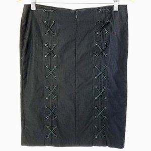 Guess Collection Skirt Lace Up Back in Black